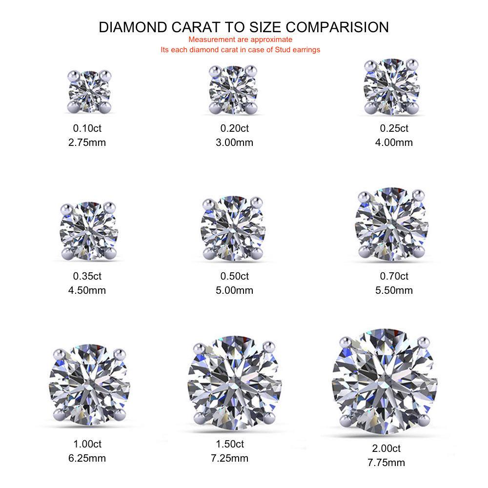 I1-HI-Certified-Round-Diamond-Gold-Platinum-Women-Stud-Earrings-Multiple-Carat thumbnail 4