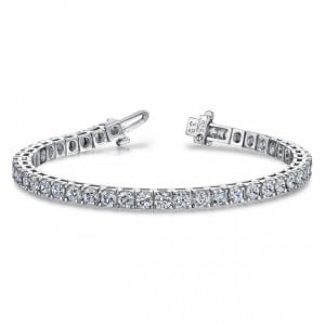 Tennis Bracelet Round Brilliant Cut Line Tennis Diamond Bracelet