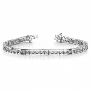 Diamond Tennis Bracelet Brilliant Cut Diamond Line Bracelet