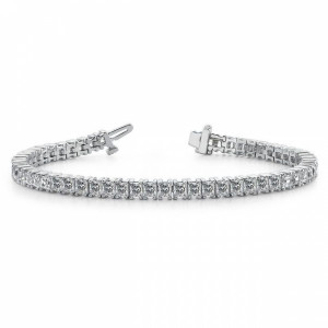 Gold Tennis Bracelet Princess Cut Line Tennis Diamond Bracelet