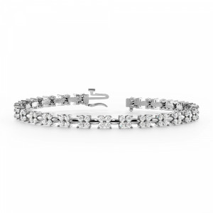 4 Diamonds Cluster Diamond Bracelets