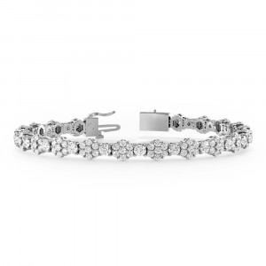 Luxurious Cluster Diamond Bracelets