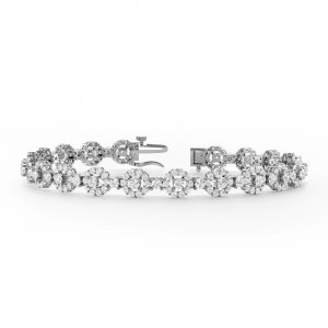 Halo Cluster Diamond Bracelets