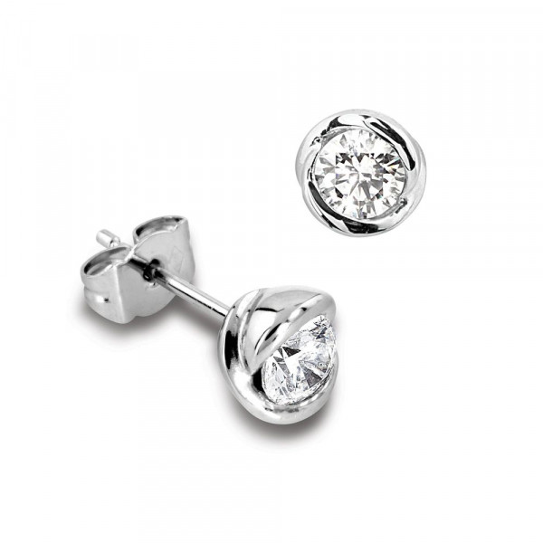 Tiny Diamond Gold Stud Earring for Mens in White, Yellow and Rose Gold