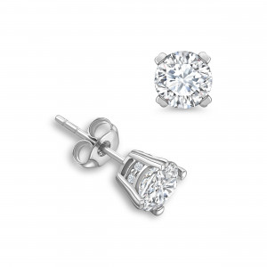 Round Shape Designer Stud Diamond Earrings Available in White, Yellow, Rose Gold and Platinum