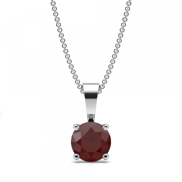 4 Claw Solid Bale Ruby Gemstone Necklace