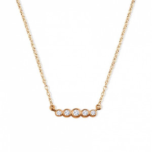 0.15Ct Statement Diamond Necklace for Women (3.5X15Mm)