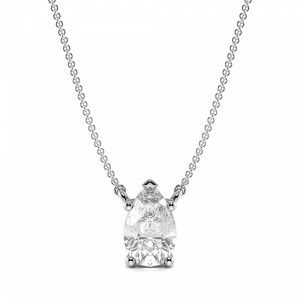 4 Prong Pear Shape Tear Drop Diamond Solitaire Pendant