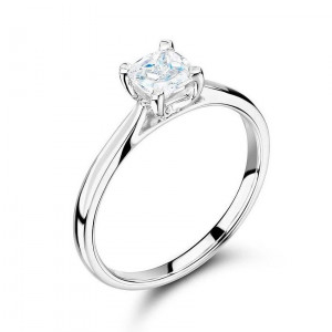 Prong Setting Princess Solitaire Diamond Engagement Ring