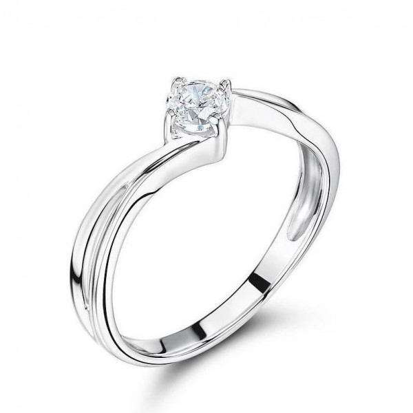 Brilliant Cut Round Solitaire Diamond Yellow Gold Engagement Rings UK