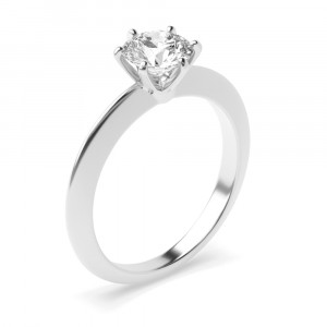 Round 0.30 VVS2 H ABELINI 9K White Gold 6 Prong Setting Round Brilliant Cut Solitaire Diamond Engagement Rings for Women