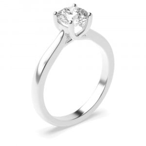 4 Claw Solitaire Lab Grown Diamond Engagement Ring