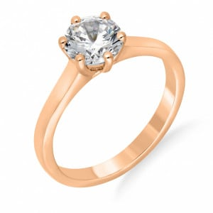 White Gold Engagement Ring UK With Round Shaped Solitaire Diamond