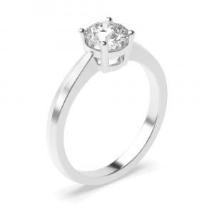 Elegant 4 Prong Set Round Solitaire Diamond Engagement Rings UK