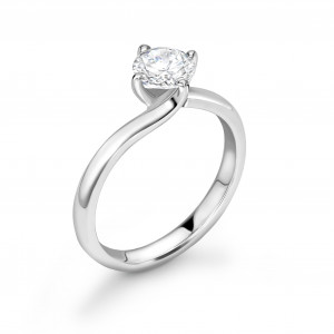 Twist Claw Setting Solitaire Diamond Engagement Rings UK