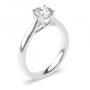 Round 0.50 I1 I ABELINI 9K White Gold Yellow Gold Engagement Rings UK With Brilliant Cut Round Solitaire Diamond