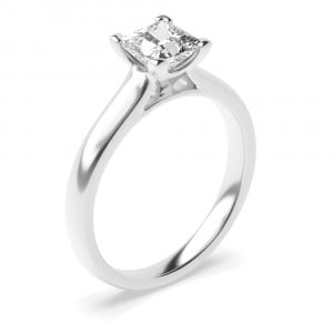 Princess 0.50 SI2 H ABELINI 18K White Gold Princess Cut White Gold Engagement Rings Solitaire Diamond Rings