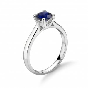Simple Elegant Engagement Rings 4 Prong Solitaire Sapphire Engagement Rings UK
