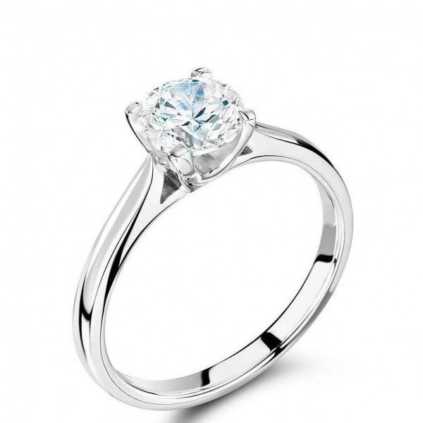 Simple Elegant Engagement Rings 4 Prong Solitaire Diamond Ring for Women