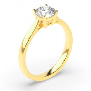 Round 0.40 I1 I ABELINI 18K Yellow Gold Solitaire Engagement Rings Platinum / Rose / White Gold Brilliant Cut Diamond