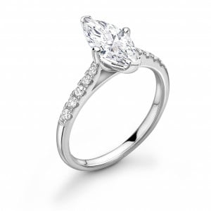 4 Claw Setting Marquise Diamond Engagement Rings