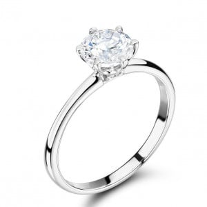 6 Claw Lab Grown Diamond Engagement Ring Brilliant Cut Solitaire Ring