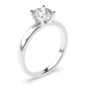 Round 1.00 I1 I ABELINI 9K White Gold 4 Claw Set Round Cut Diamond Solitaire Engagement Rings Platinum