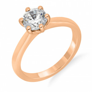 Beautiful Flower Style Setting Solitaire Diamond Engagement Rings UK