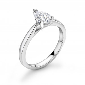 Classis Tear Drop Shape Diamond Engagement Ring