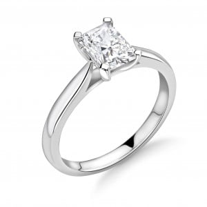 Classis Radiant Shape Diamond Engagement Ring