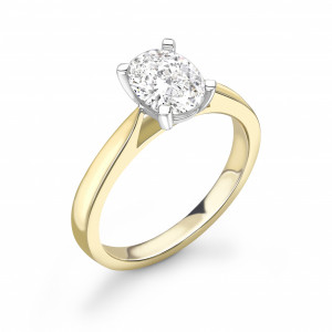 Classis Oval Shape Diamond Engagement Ring