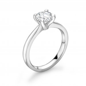 Open Setting 4 Claw solitaire Lab Grown Diamond Engagement Ring UK