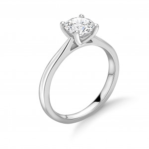 Classic Open Claw Setting Solitaire Lab Grown Diamond Engagement Ring
