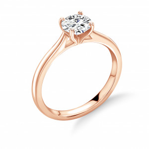 Classic 4 Claw Open Solitaire Diamond Engagement Rings