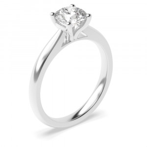 Classic 4 Claw Open Solitaire Lab Grown Diamond Engagement Ring