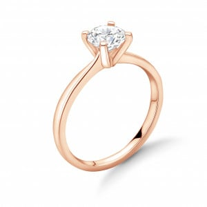 Classic Tulip Claws Solitaire Diamond Engagement Ring