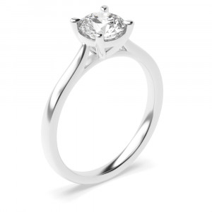 Delicate and Classic Popular Solitaire Lab Grown Diamond Engagement Ring