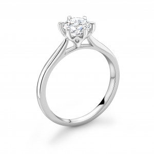 Crown Setting Style Solitaire Lab Grown Diamond Engagement Ring