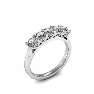 Five Stone Diamond Ring Prong Setting In Different Carats