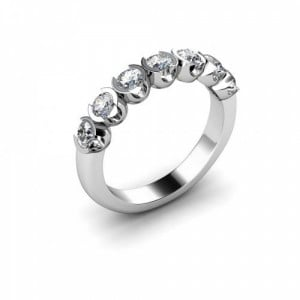 Semi Bezel Setting Seven Stone Diamond Ring