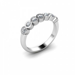 Full Bezel Setting Seven Stone Diamond Ring