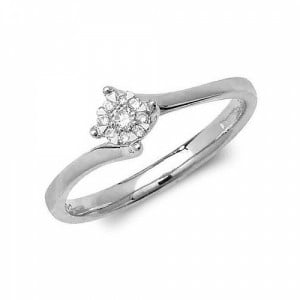 4 Prong Twisted Setting Diamond Cluster Engagement Rings (4.5mm, 5.0mm, 6.5mm)