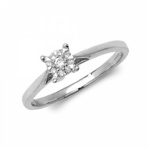 4 Prong Classic Setting Diamond Cluster Engagement Rings (4.5mm, 5.0mm, 6.5mm)