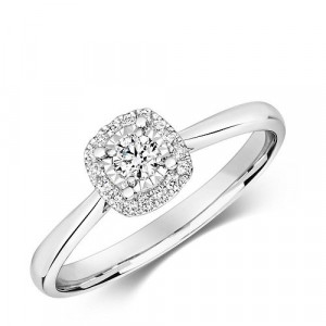 Halo Style Illusion Set Engagement Ring (6.0mm)