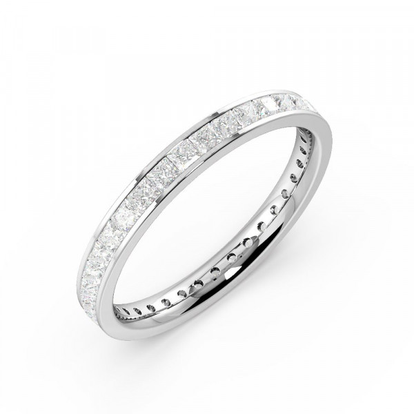 Channel Setting Princess Full Eternity Diamond Ring (Available in 2.5mm to 3.5mm)