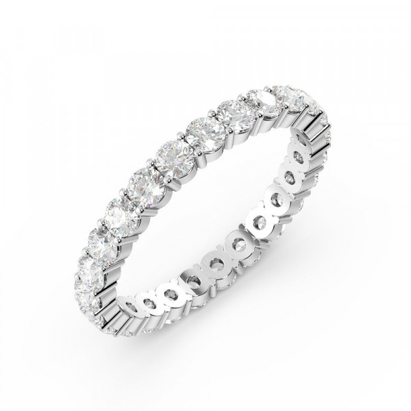 Prong Setting Round Full Eternity Diamond Ring (Available in 1.5mm to 3.0mm)