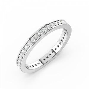 Pave Setting Round Full Eternity Diamond Ring (Available in 2.0mm to 3.5mm)