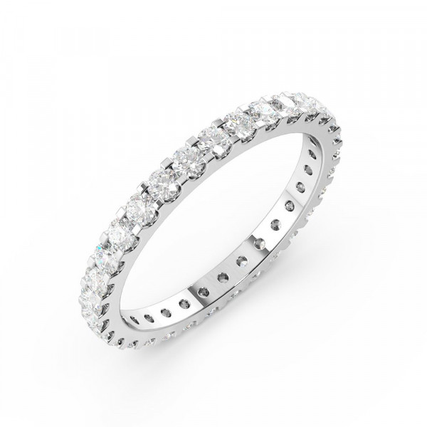Prong Setting Round Full Eternity Diamond Ring (Available in 1.8mm to 2.4mm)