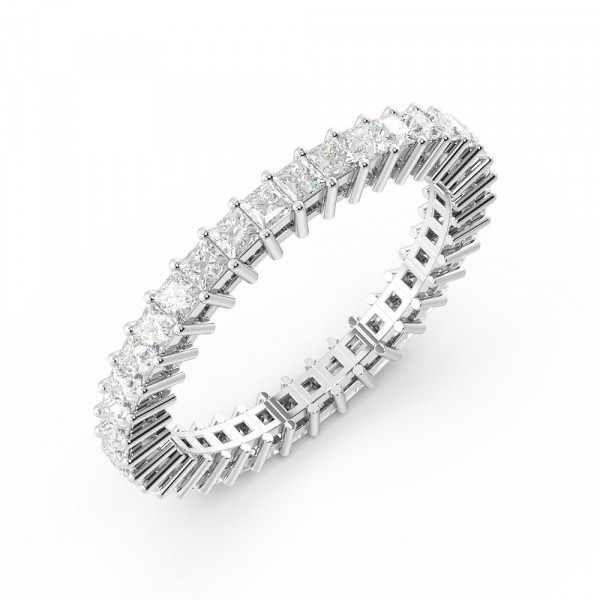 Prong Setting Princess Full Eternity Diamond Ring (Available in 1.5mm to 3.0mm)