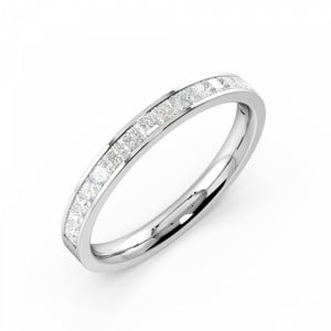 Channel Setting Princess Half Eternity Diamond Ring
